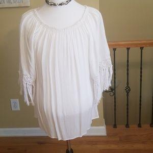 Elan white fridge top, could be a mini dress for sale